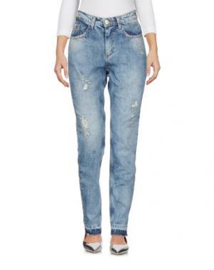 Джинсовые брюки CUPLÉ. Цвет: синий
