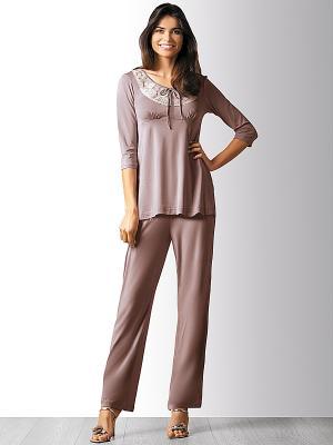 Пижама Marc&Andre. Цвет: серо-коричневый