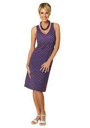 Платье VIVANCE. Цвет: лиловый, темно-синий/белый, черный/белый