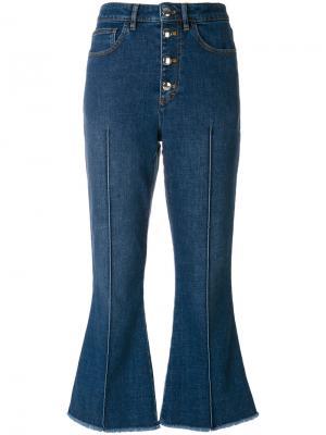 Укороченные джинсовые брюки Sonia Rykiel. Цвет: синий