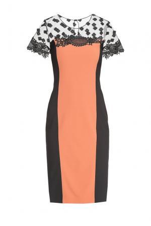 Платье из вискозы и шерсти с искусственным шелком 180487 Cristina Effe. Цвет: разноцветный
