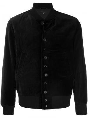 Бархатная куртка-бомбер Engineered Garments. Цвет: чёрный