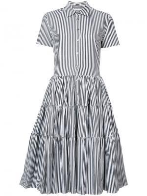 Платье-рубашка в полоску Jourden. Цвет: чёрный