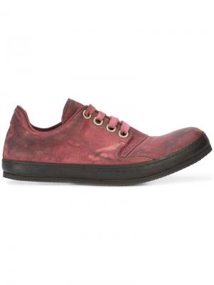 Кроссовки на шнуровке A Diciannoveventitre. Цвет: красный
