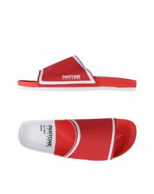 Сандалии PANTONE UNIVERSE FOOTWEAR. Цвет: красный