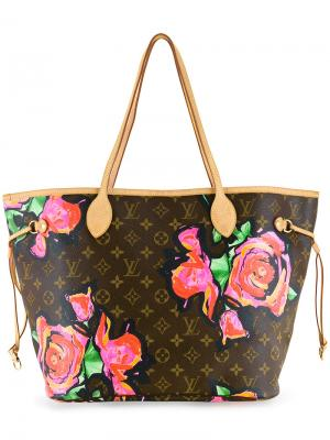 Neverfull floral print tote Louis Vuitton Vintage. Цвет: коричневый
