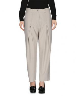 Повседневные брюки PF PAOLA FRANI. Цвет: светло-серый