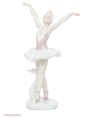 Фигурка Балерина Pavone. Цвет: бледно-розовый, белый