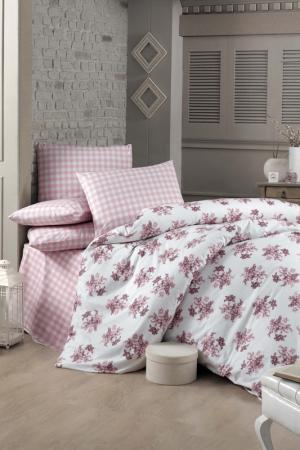 Double Quilt Cover Set Victoria. Цвет: white, dusty rose, pink