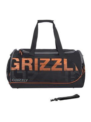 Сумка Grizzly. Цвет: черный, оранжевый