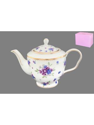 Чайник Сиреневый туман Elan Gallery. Цвет: белый, голубой, сиреневый
