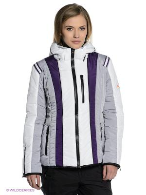 Куртка Sport Vision. Цвет: серый, белый, фиолетовый