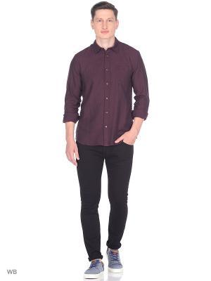 Рубашка 1PKT Wrangler. Цвет: коричневый