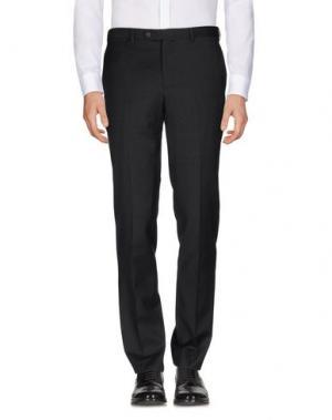 Повседневные брюки LUIGI BIANCHI MANTOVA. Цвет: стальной серый