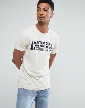 Abercrombie & Fitch Светло-коричневая узкая футболка с логотипом. Цвет: коричневый