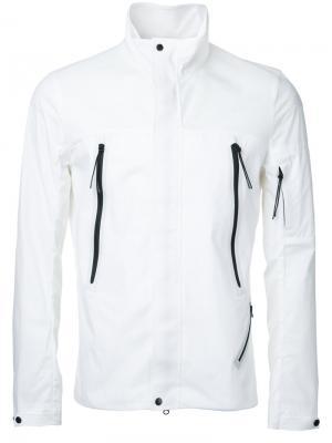 Легкая куртка с высокой горловиной CP Company. Цвет: белый