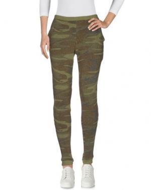 Повседневные брюки ALTERNATIVE EARTH. Цвет: зеленый-милитари