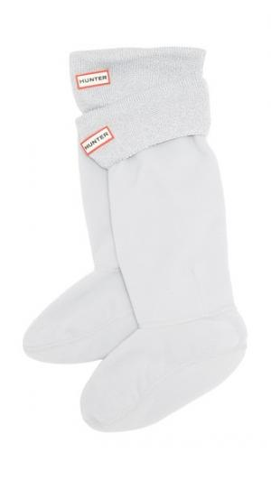 Носки под ботинки с блестящей манжетой Hunter Boots. Цвет: серый