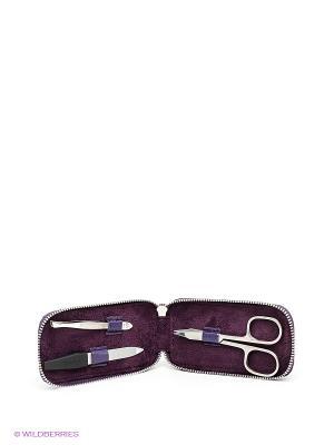 Маникюрный набор Dewal. Цвет: серебристый, фиолетовый
