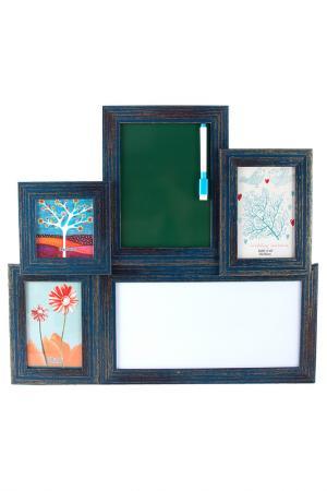 Фоторамка-коллаж на 3 фото Русские подарки. Цвет: зеленый, черный, синий