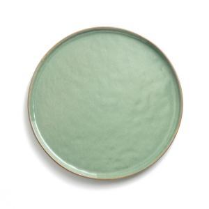 Тарелка из керамики, Ø27 см, PURE, дизайн П.Нессенса для Serax AM.PM.. Цвет: зеленый/темно-зеленый