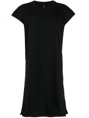 Удлиненная футболка с вырезом на спине Barbara I Gongini. Цвет: чёрный