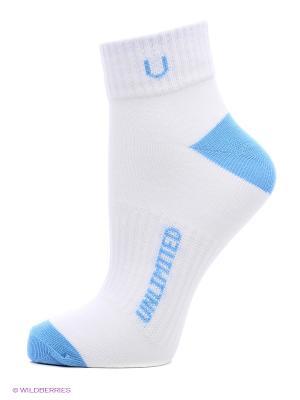 Носки спортивные 5 пар Unlimited. Цвет: голубой, белый