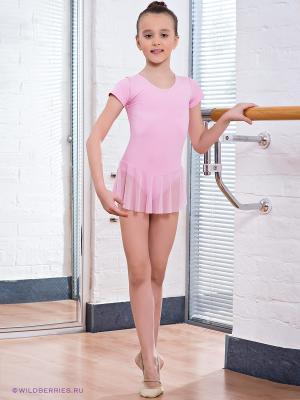 Гимнастический купальник Grishko. Цвет: розовый