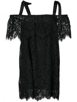 Off shoulder dress Ganni. Цвет: чёрный