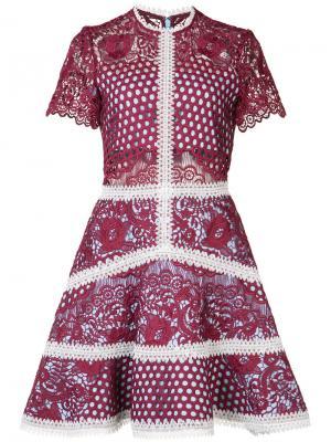 Расклешенное мини-платье Mosaic Alexis. Цвет: синий