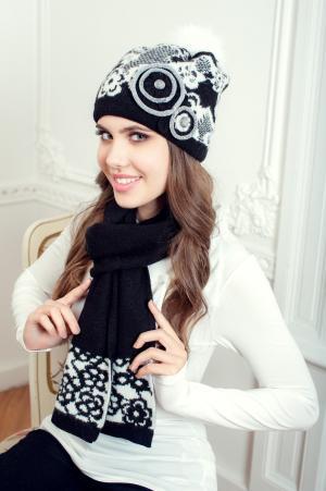 Комплект бриджит (шапка+шарф) Landre