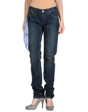 Джинсовые брюки WUNDERKIND. Цвет: синий