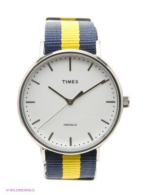 Часы TIMEX. Цвет: желтый, синий