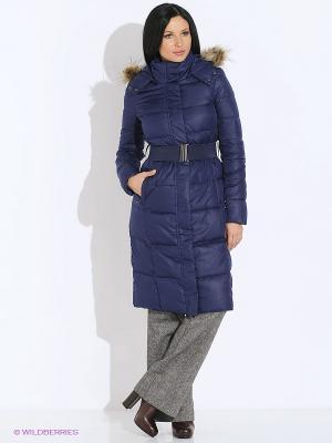 Пальто INCITY. Цвет: синий, черный
