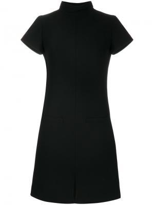 Платье-свитер с высоким воротом Courrèges. Цвет: чёрный