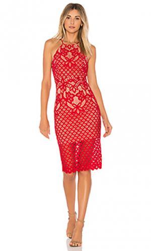 Платье миди mila Bardot. Цвет: красный