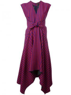 Платье миди с неравномерным подолом Proenza Schouler. Цвет: красный