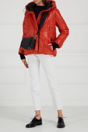Утепленная куртка оранжевая NOVAYA. Цвет: оранжевый