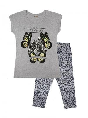 Комплект женский (туника, бриджи) Family Colors. Цвет: серый меланж