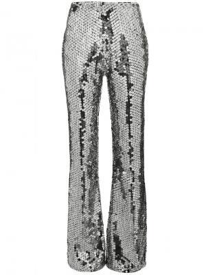 Расклешенные брюки с пайетками Filles A Papa. Цвет: металлический