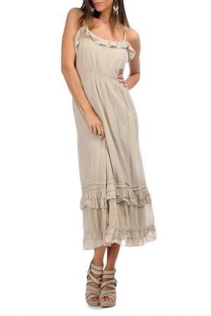 Платье Laklook. Цвет: бежевый