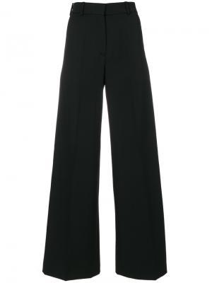 Широкие расклешенные брюки Racil. Цвет: чёрный