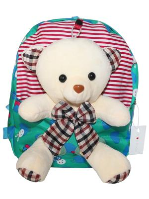Детский рюкзак с мишкой GOOD MOOD. Цвет: салатовый