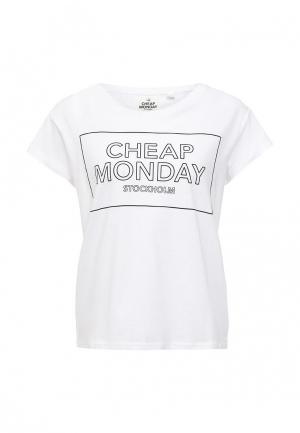 Футболка Cheap Monday. Цвет: белый