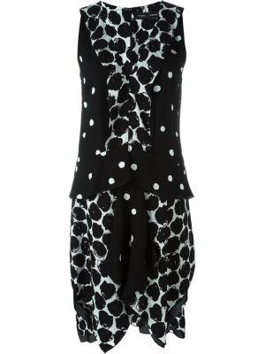 Асимметричное платье Proenza Schouler. Цвет: чёрный