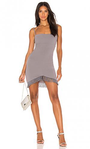 Мини платье mendez Nookie. Цвет: серый