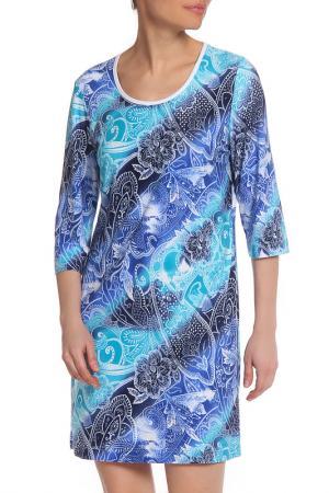 Платье домашнее Лейла LAVELLE. Цвет: синий