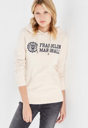 Худи Franklin & Marshall. Цвет: бежевый