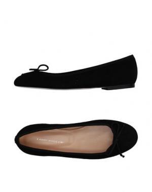 Балетки FABIO RUSCONI. Цвет: черный