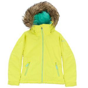 Куртка утепленная детская  Jet Ski So Girl G Snjt Lemon Tonic_gana Emb Roxy. Цвет: желтый